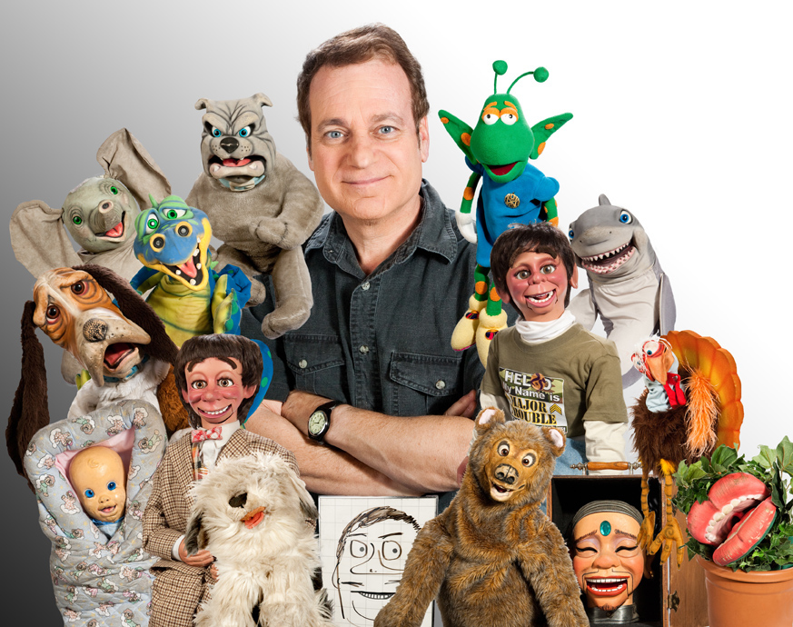 Joe's current show (2011 photo) involves a big cast of characters.