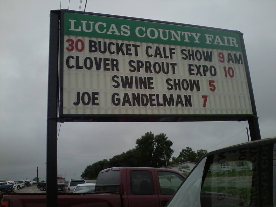 Joe at the Lucas County Fair in Chariton, Iowa